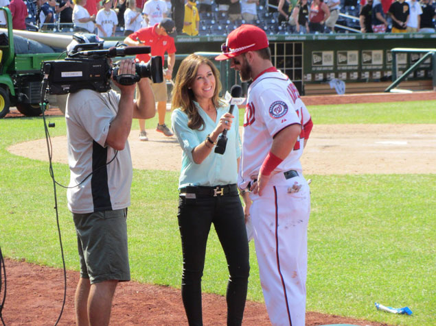 Nationals Sideline Reporter Julie Alexandria on Work/Life, the Team, and Tips For Being Camera-Ready