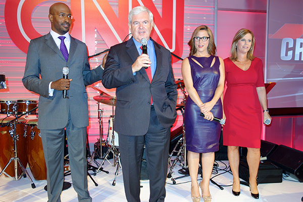 """Media Soirees Welcome New Faces, Including Newt Gingrich at a Rebooted CNN """"Crossfire"""" (Photos)"""