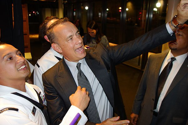 "Tom Hanks Brings His Star Power to the Newseum for ""Captain Phillips"" (Photos)"
