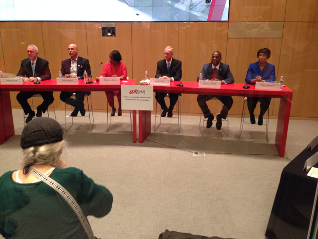 At First Debate of DC Mayor's Race, Candidates Target Incumbent Who Isn't There