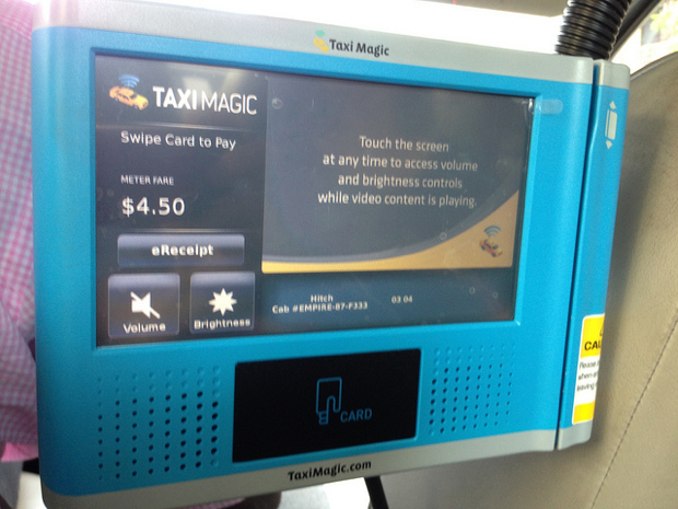 Taxis Required to Have Backseat Credit Card Readers By Next Week