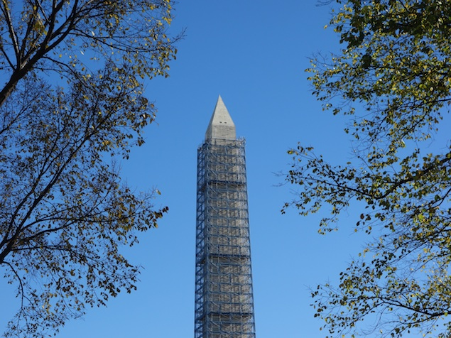 A Washington Monument Repair Timetable, From Scaffold Removal to Reopening