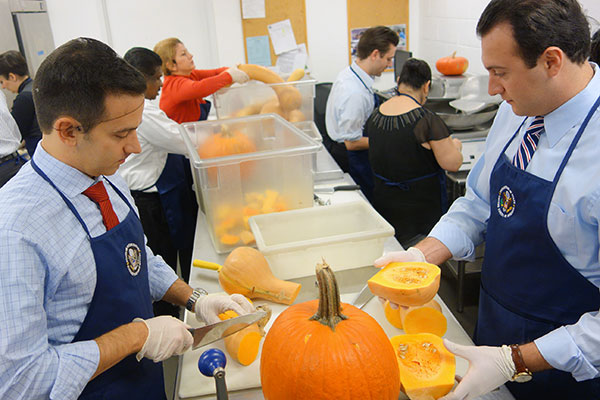 Ambassadors Slice and Dice for the Needy at DC Central Kitchen (Photos)