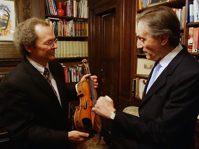 A Stradivari Night at Villa Firenze, With Millions of Dollars of Ancient Stringed Instruments (Photos)