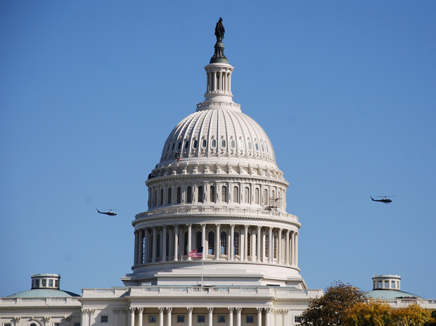 "Congress Let ""60 Minutes"" Fly Helicopter Over Washington for Dome Story"