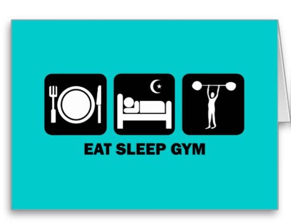Eat Sleep Gym Fitness Cards