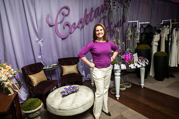 Jennifer Morris Of J Flowers Poses In The Cocktail Hour Room Photograph By Michael Bennett Kress Photography