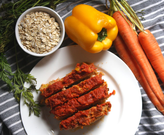 Healthy Recipe: Turkey Meatloaf With Oats and Veggies