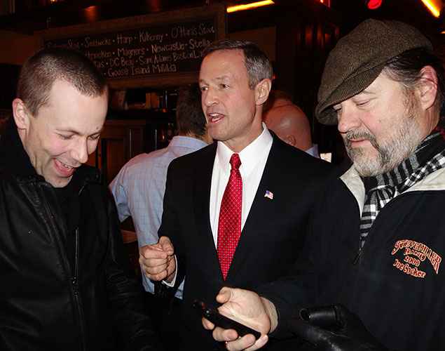 Spotted in Georgetown: Maryland Governor Martin O'Malley at the Opening of Irish Pub Rí Rá