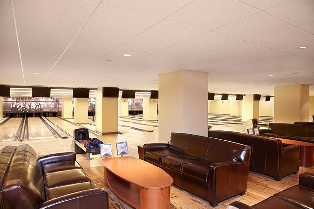 Eating and Bowling: Pinstripes Debuts This Weekend