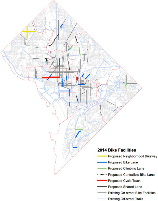 District Plans 19 Miles of Bike Lanes in 2014, but Will They Actually Get Built?