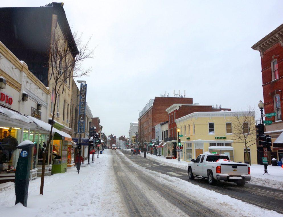 Snow-Day Photos Around Washington