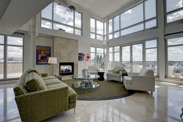 Most Expensive Homes on the Market: A .7 Million Corner Penthouse in Adams Morgan