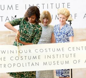 Michelle Obama Inaugurates the Anna Wintour Costume Center
