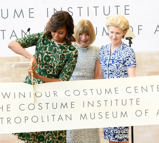 Michelle Obama Inaugurates the Anna Wintour Costume Center