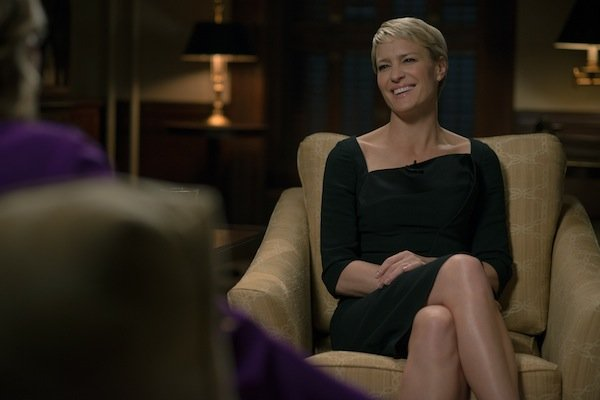 House Of Cards Claire Underwood Wears Burberry Theory Narciso