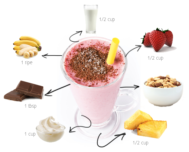 Healthy Recipe: A Fat-Free Banana Split Smoothie