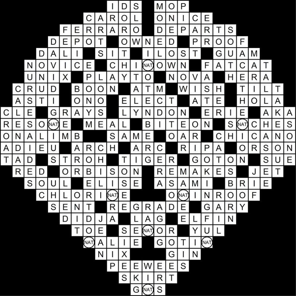 April 2014 Crossword Puzzle Answer Key