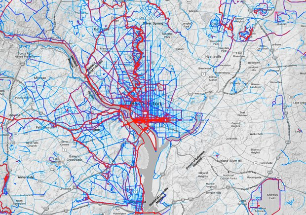 See Washington's Most Popular Bike and Running Routes in One Map