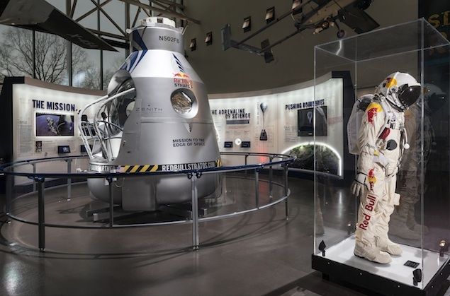 Felix Baumgartner's Balloon Gondola and Space Suit Are Now on Display at the National Air and Space Museum