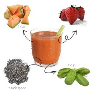 Healthy Recipe: Cantaloupe-Strawberry Smoothie