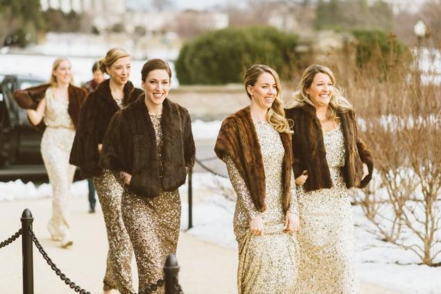 Trend Watch Sequin Bridesmaids Dresses Photos Washingtonian Dc