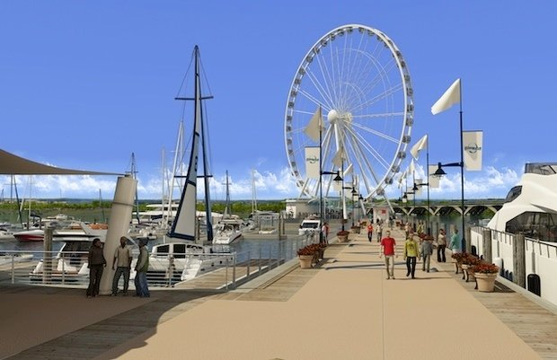 See a Time-Lapse Video of the National Harbor's Ferris Wheel Being Built