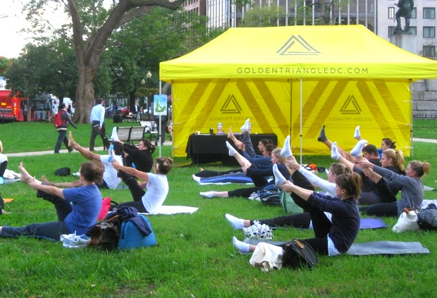 Free Outdoor Workouts in Farragut Square Are Back