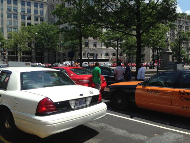 Taxi Drivers Shut Down Pennsylvania Avenue to Protest Uber and Lyft