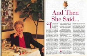 From the Archives: And Then She Said …