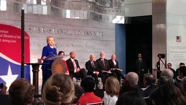 Hillary Clinton Presents Ralph Lauren With Award at American History Museum