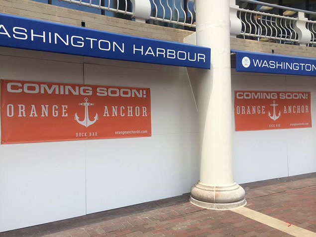 Details on Orange Anchor, Headed to the Georgetown Waterfront