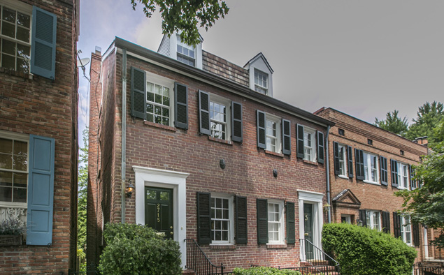 Listing We Love: A Brick Four-Level Federal Townhouse in East Georgetown