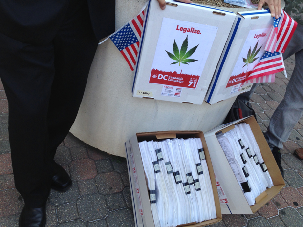 Marijuana Activists Turn in Signatures to Put Legalization on Ballot