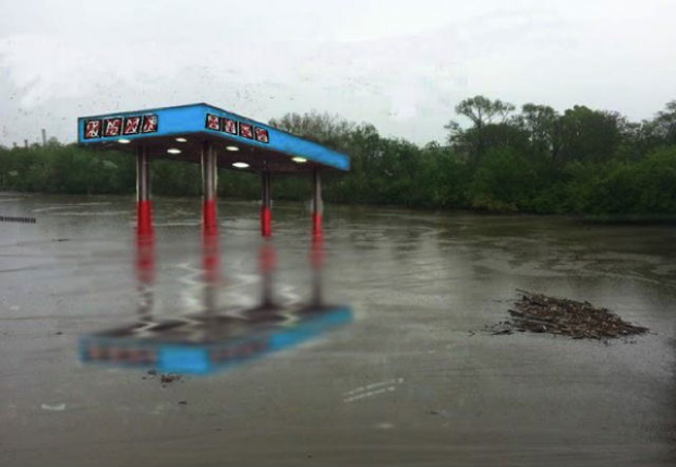 Update: Artist's Mock Gas Station Won't Go in Anacostia River