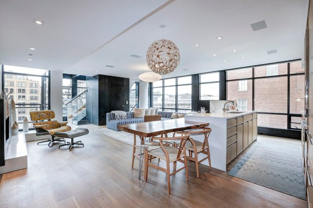 Most Expensive Homes on the Market: A .5 Million Modern Condo in Penn Quarter