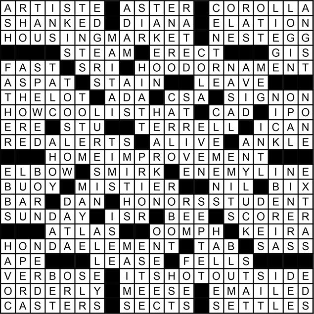 August 2014 Crossword Puzzle Answer Key