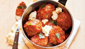 Lamb Meatballs with Tomato, Ricotta and Mint