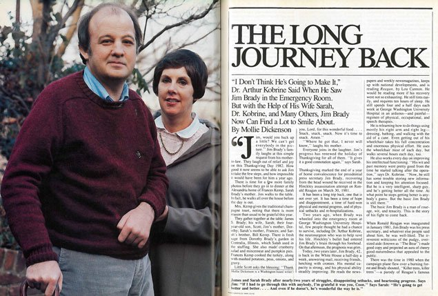 From the Archives: James Brady's Long Journey Back