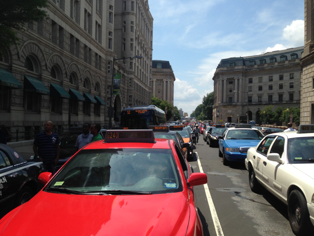 Taxi Drivers Are Going to Take Over Pennsylvania Avenue at Lunch on Wednesday