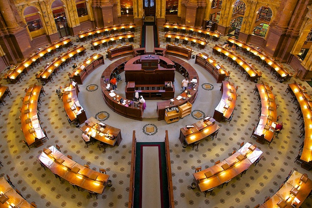 Explore the Main Reading Room in the Library of Congress Monday