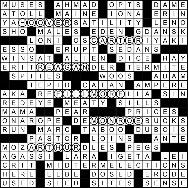 November 2014 Crossword Puzzle Answer Key
