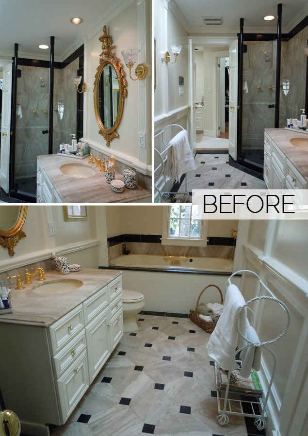 Before & After: An Overly Ornate Bath Goes Serene