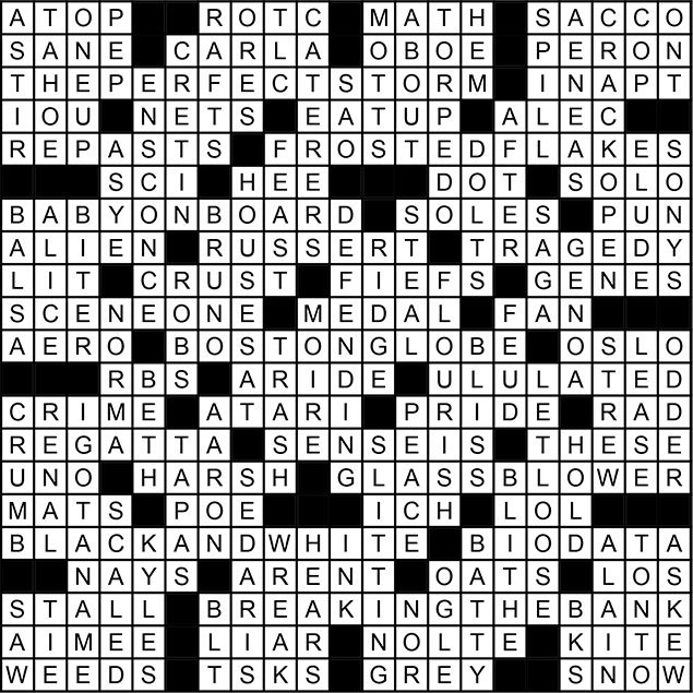 December 2014 Crossword Puzzle Answer Key