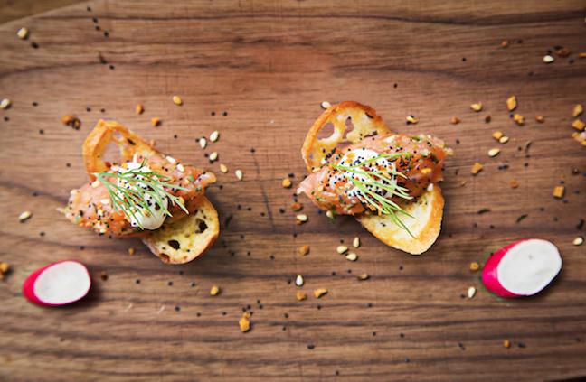 Recipe: Smoked Salmon Crisps from DBGB