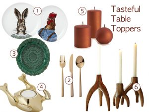 Decor Finds for a Chic Thanksgiving Table