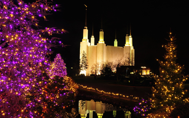 Photograph by Flickr user Glyn Lowe. Washington DC Mormon Temple - The Best Christmas Lights Around Washington (Photos) Washingtonian