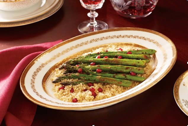 Healthy Recipe: Roasted Asparagus With Pomegranate Seeds
