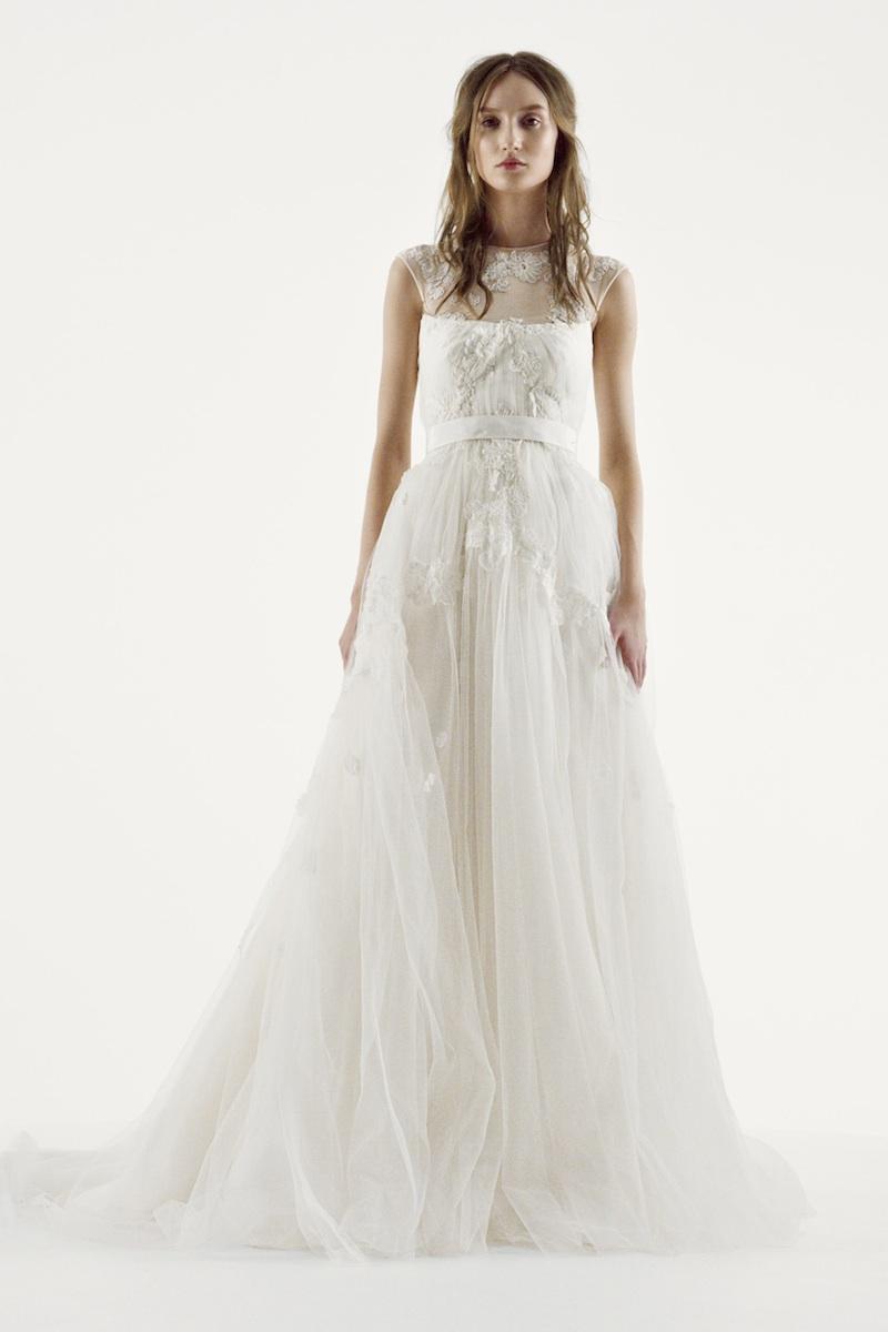 Vera Wang Strapless Wedding Dresses 57 Lovely Cap sleeve illusion neckline