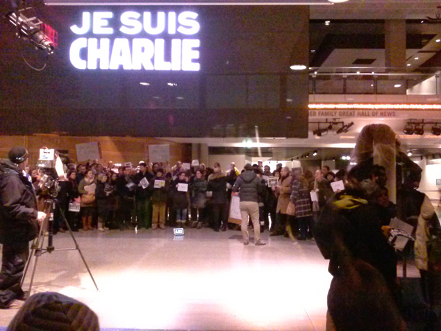 """Nous Sommes Charlie!"": French Washingtonians Remember Charlie Hebdo Victims"